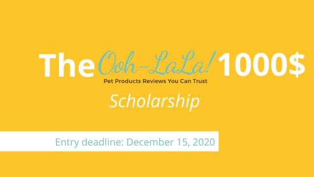 OohLaLaPets 1000$ Scholarship